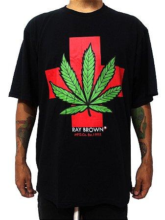 Camiseta Masculina Cannabis Medicinal Maconha Ray Brown