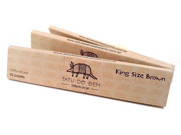 Seda Tatu do Bem Brown Cânhamo King Size - 3 unidades