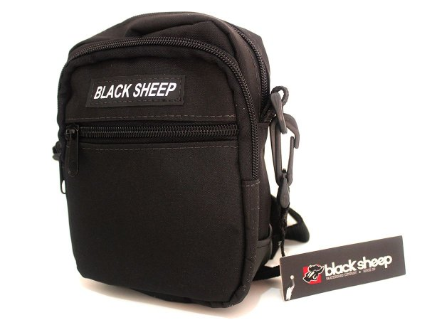Shoulder Bag Black Sheep Preto 3 Compartimentos Poliéster