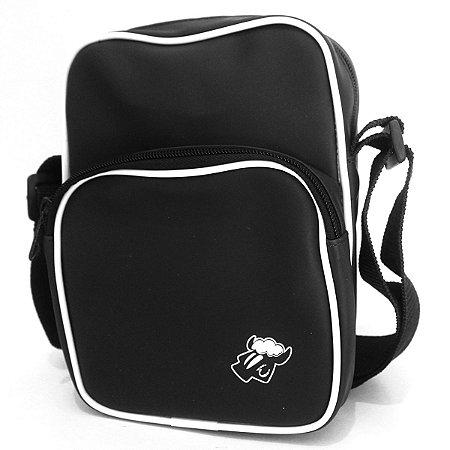 Shoulder Bag Big Black Sheep Preto 2 Compartimentos Nylon Emborrachado