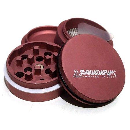 Dichavador Squada High Grinder Alumínio 4 partes 4cm Rosa