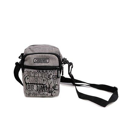 Shoulder Bag Chronic 420 Bomb Tags Cinza 3 Bolsos Poliéster