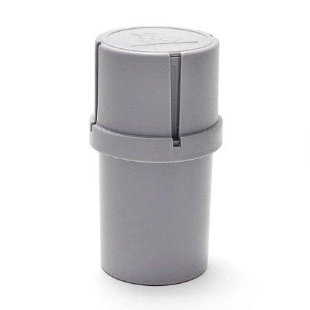Dichavador Pot Grinder 3 partes Squadafum Triturador Cinza