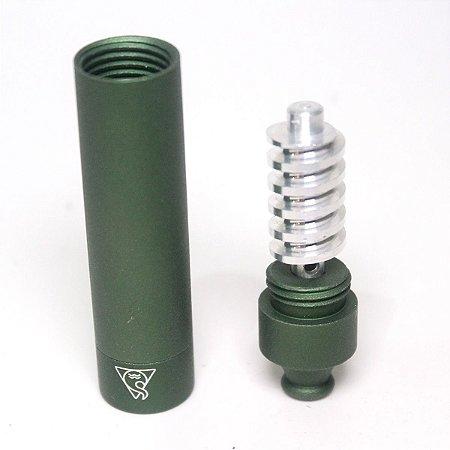 Pipe de Metal Squadafum Heat Cooler Cachimbo Alumínio Verde