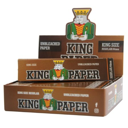Caixa de Seda King Paper Brown King Size 20 Livretos Unbleachead