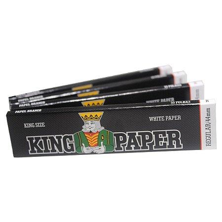 Seda King Paper Branca King Size Regular 33 Folhas - 4 Livretos