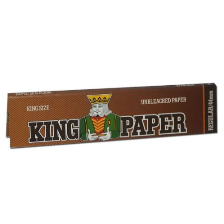 Seda King Paper Brown Sem Cloro King Size Regular 33 Folhas