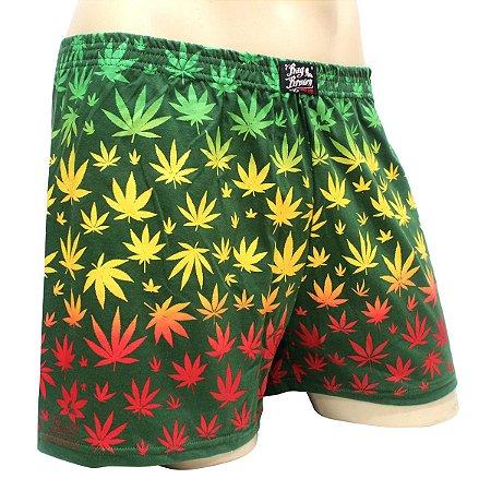 Cueca Samba Canção Cannabis Reggae Verde Ray Brown