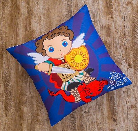 Almofada Coleção São Miguel Arcanjo Azul Escura
