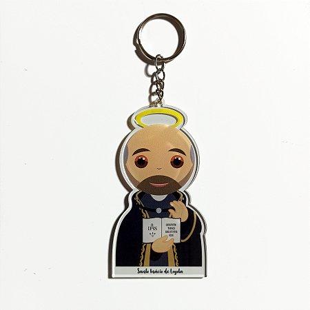 Chaveiro Santo Inácio Jesuita Acrílico