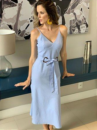 Vestido de linho blue