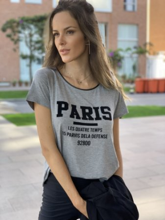 T-shirt Paris Cinza