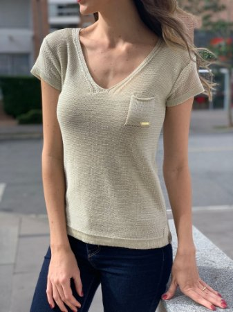 T-shirt tricô