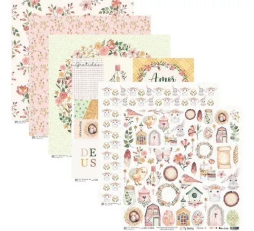 Kit Papéis Scrapbook Coleção My Blessing