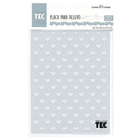 Placa para Relevo 2D Elegance Toke e Crie 127 x 177 mm – Corações 21457