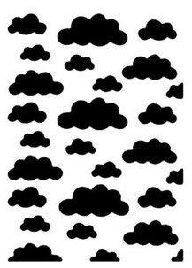 Placa de Emboss - ART E MONTAGEM - Nuvem A6 PE1-38