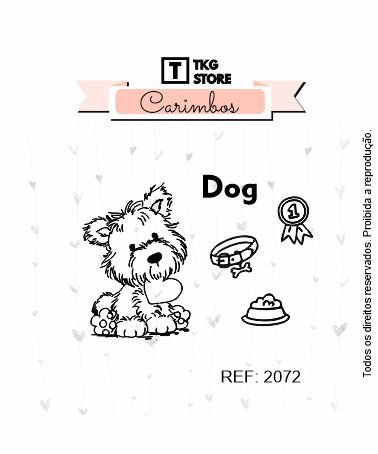 Carimbo Artesanal Dog 2072