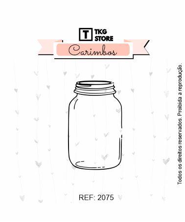 Carimbo Artesanal Mason Jar 2075