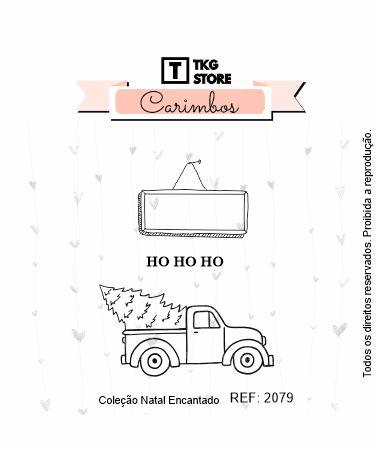 Carimbo Artesanal Natal Encantado  carro 2079
