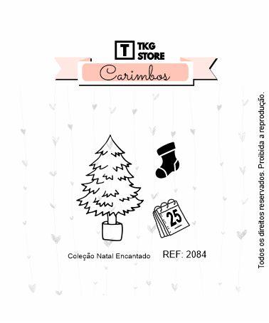 Carimbo Artesanal Natal Encantado Arvore 2084