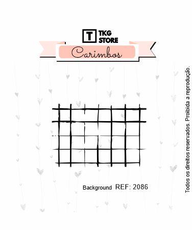 Carimbo Artesanal Background Grid 2086