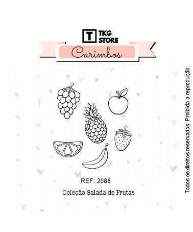 Carimbo Artesanal Salada de Frutas 2088
