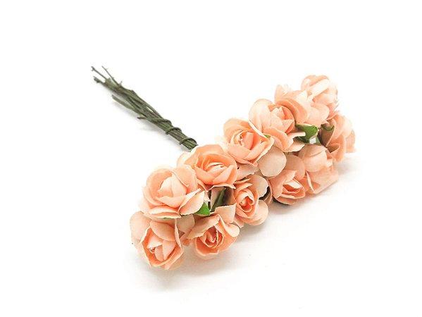 Mini rosa de Papel com 144 unidades