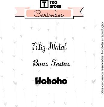 Carimbo Artesanal Frases de Natal