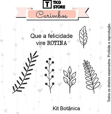 Carimbo Artesanal Kit Botânica