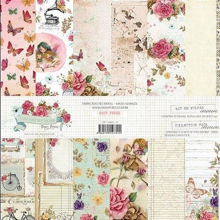 Kit Papéis Scrapbook Coleção You Are My Home