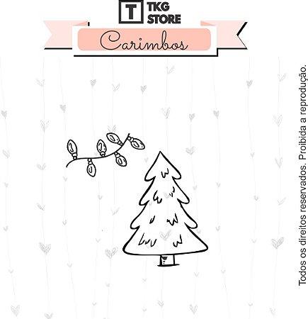 Carimbo Artesanal Natal Mágico Árvore