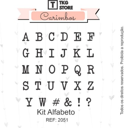 Kit Carimbo Alfabeto TKG Store 2051