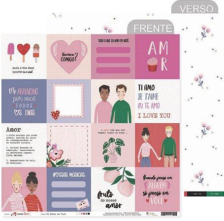 Kit Papéis Scrapbook Coleção Espalhando Amor - Juju Scrapbook
