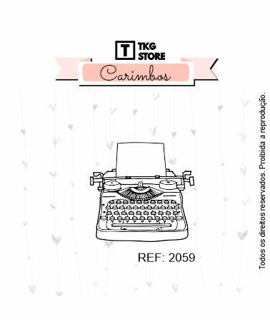 Carimbo Artesanal Máquina de Escrever 2059