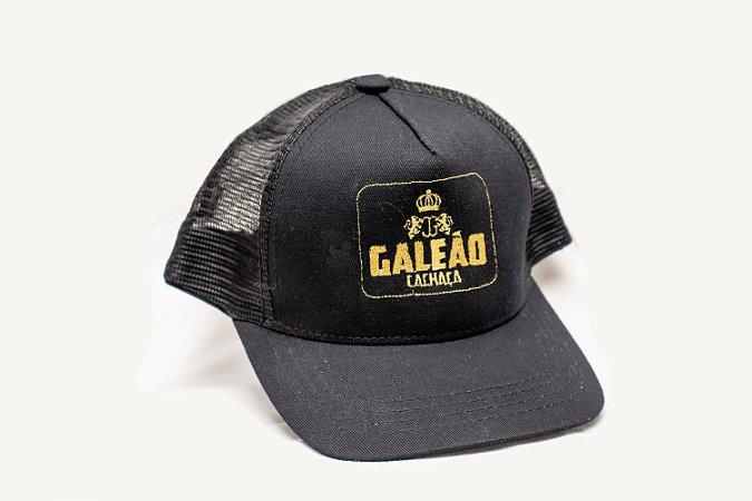 Boné Galeão Preto Rede