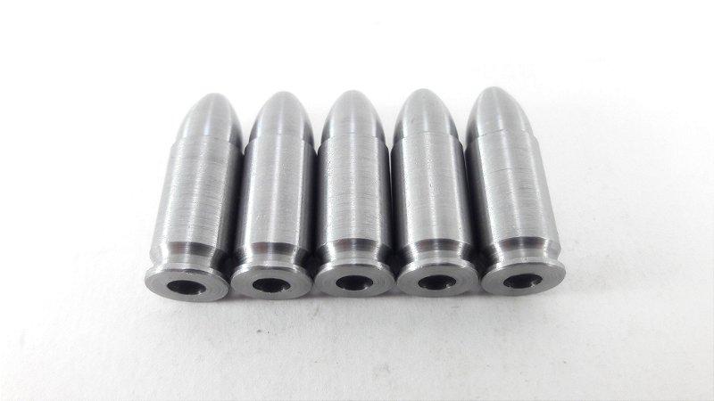 Snap Caps Munição de Manejo em Metal para Pistola 9mm - 5 unidades