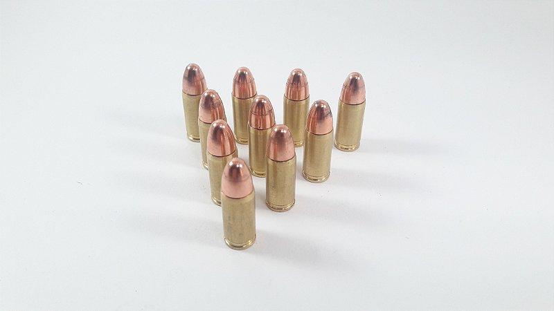 10 Réplicas de Munição de Pistola 9mm