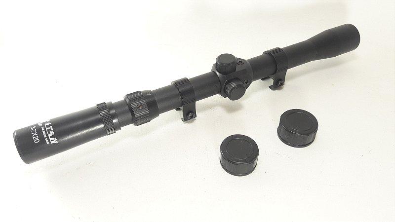 Luneta 3-7x20 Titan Original Com Mount Sniper