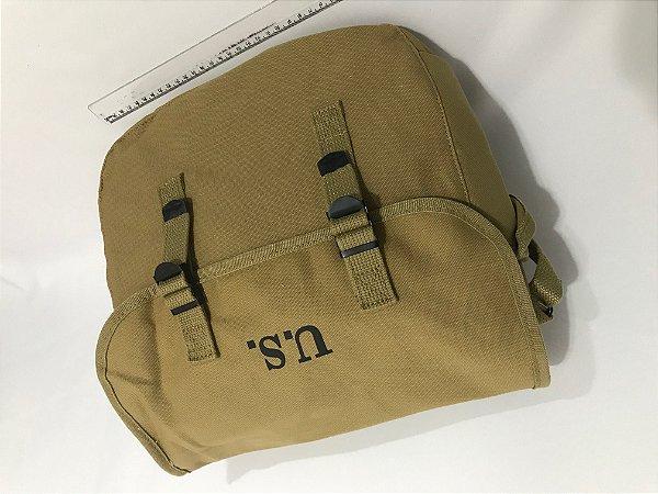 Bolsa em Lona - Musette Bag - Segunda Guerra Mundial - Em lona