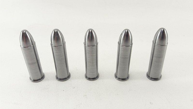 Snap Caps Munição de Manejo em Metal para Revolver .38 - Pacote com 5 unidades