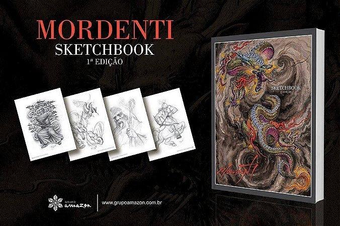 Mordenti Sketchbook Desenho Tattoo 100 Páginas-capa Dura!!!