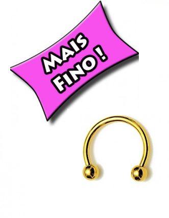 Piercing ferradura Nariz Dourado