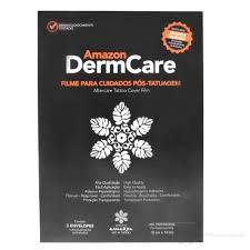 DermCare Amazon Filme para cuidados pós-tatuagem. Contém 5 Folhas