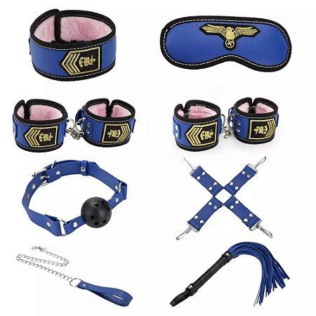 Kit bondage - 8 em 1 - Policial