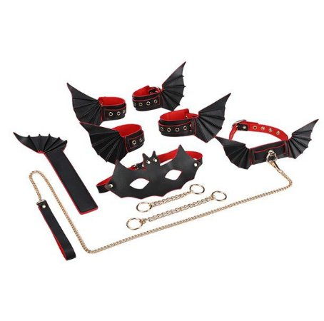 Kit bondage - 8 em 1 - Morcego