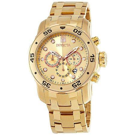 5cf4af697ef Relógio Invicta Pro Diver 80071 - Ouro 18K - Franco E Cia