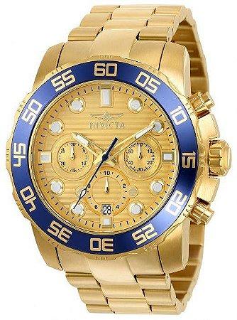 0c73f810d45 Relógio Invicta Pro Diver 22227 - Ouro 18K - Franco E Cia