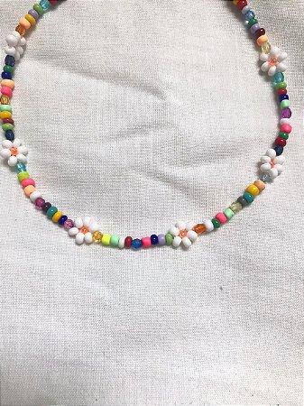 Choker Margaridas Rainbow