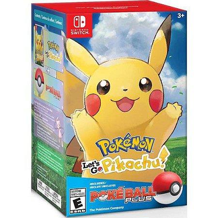 Pokémon Let's Go Pikachu! + Poké Ball Plus - ORIGINAL!