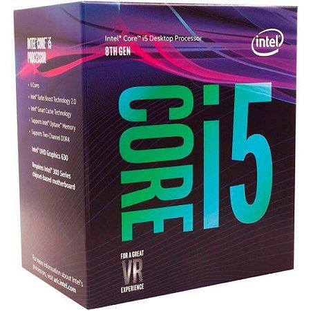 Processador Intel Core i5-8500 Coffee Lake, Cache 9MB, 3GHz (4.1 GHZ TURBO) , LGA 1151 - 8th Geração